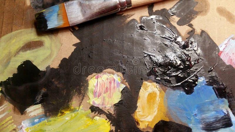 Покрасьте искусство brusher Справочная информация стоковое изображение rf