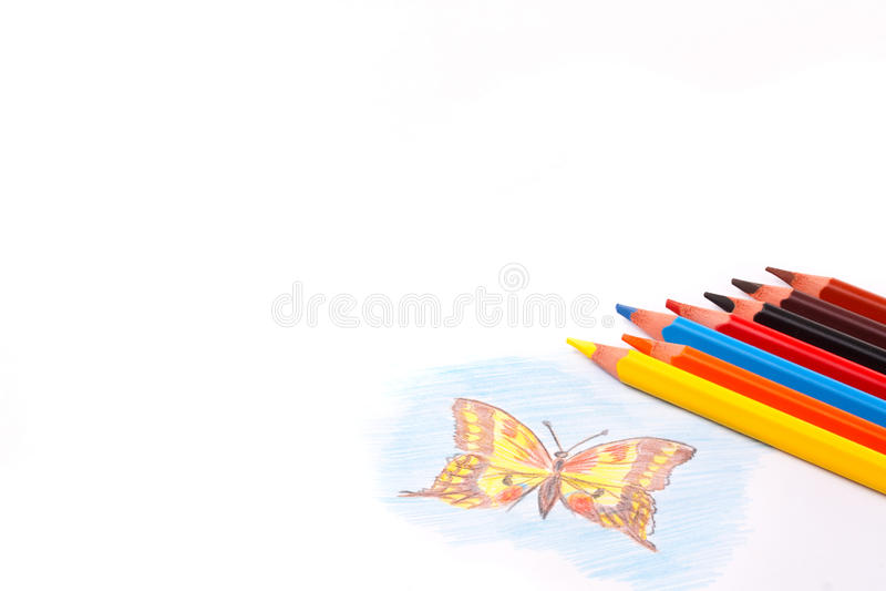 Download покрасьте карандаши триангулярным Стоковое Фото - изображение насчитывающей green, покрашено: 17615902