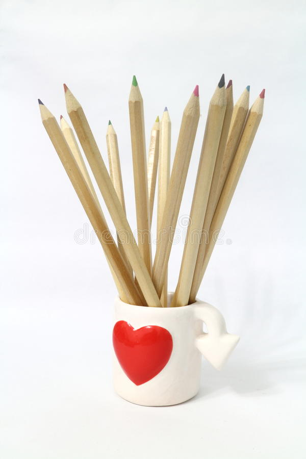 покрасьте карандаш стоковая фотография rf