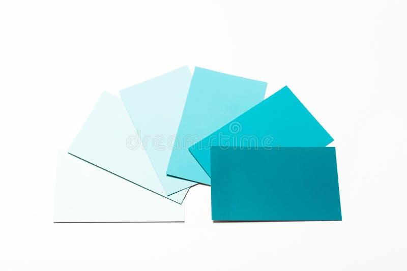 Покрасьте карточки образца стоковая фотография