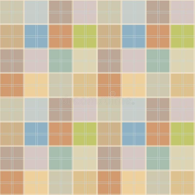 Покрасьте квадратную безшовную картину иллюстрация штока