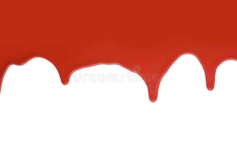покрасьте красный splatter белым стоковые фотографии rf