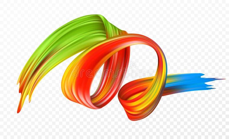 Покрасьте масло brushstroke или элемент дизайна акрила для представлений, рогулек, листовок, открыток и плакатов вектор бесплатная иллюстрация