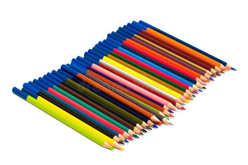 покрасьте много карандашей стоковое изображение