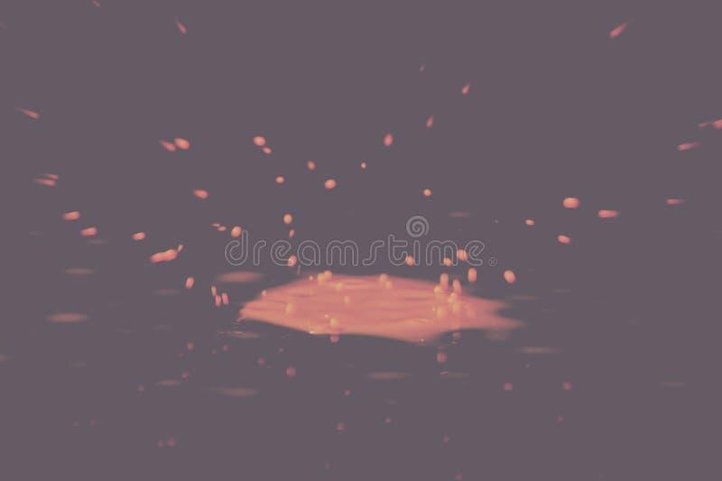 Покрасьте падение брызгая на черноте фильтр предпосылки винтажный ретро стоковое фото