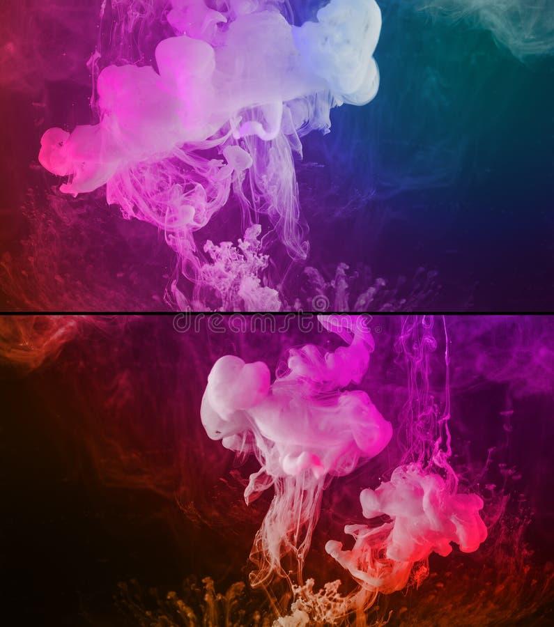Покрасьте предпосылку расслоины абстрактную стоковая фотография