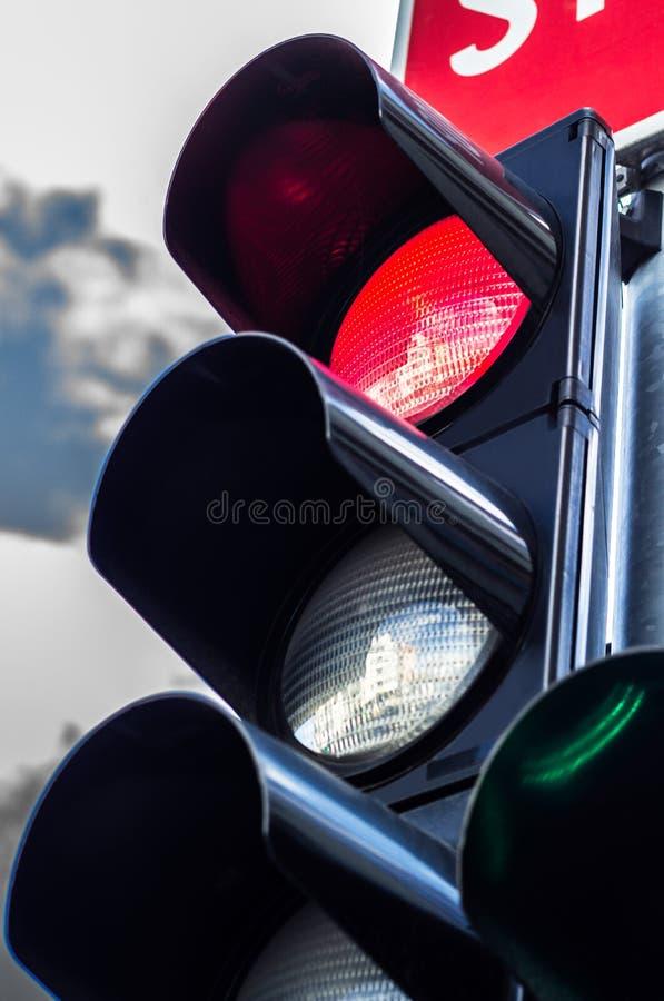 покрасьте светлое красное движение стоковые фотографии rf