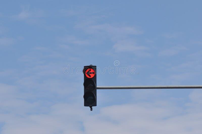 покрасьте светлое красное движение стоковое фото rf