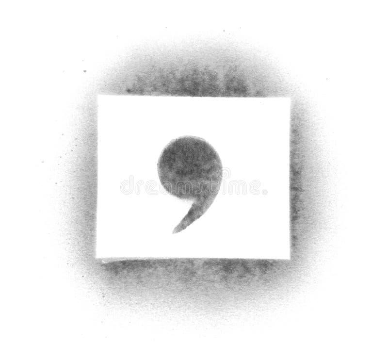 покрасьте символы восковки брызга стоковые фото