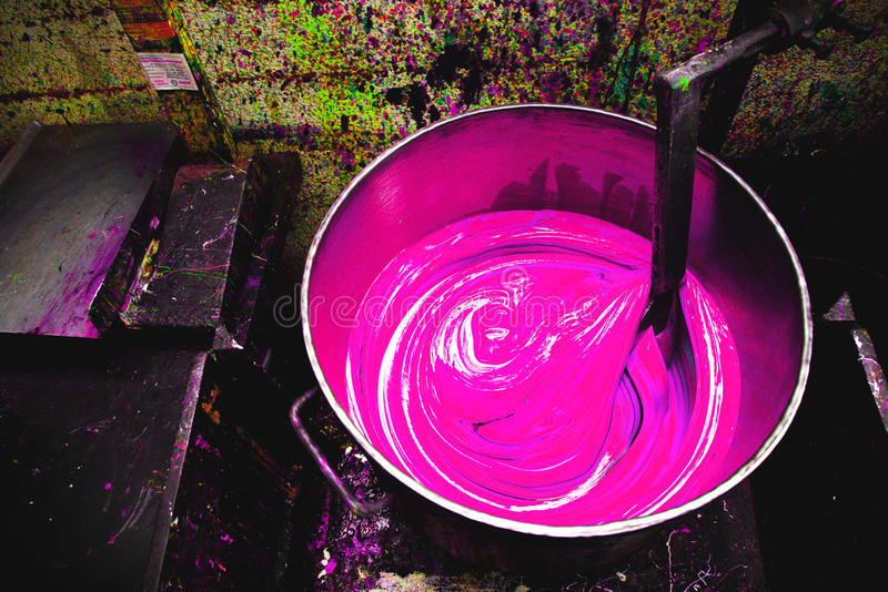 Покрасьте смесь цвета ведра стоковое фото rf