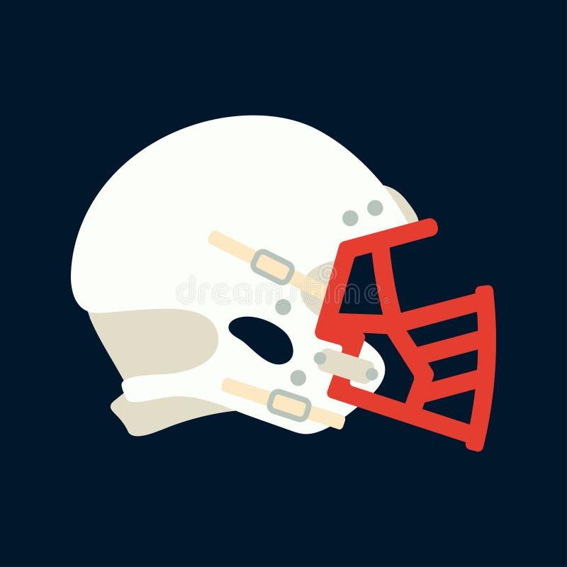 Покрасьте хоккей значка вектора, рэгби, шлем обороны бейсбола Символ успеха оборудования спорта Головная защита athirst иллюстрация штока