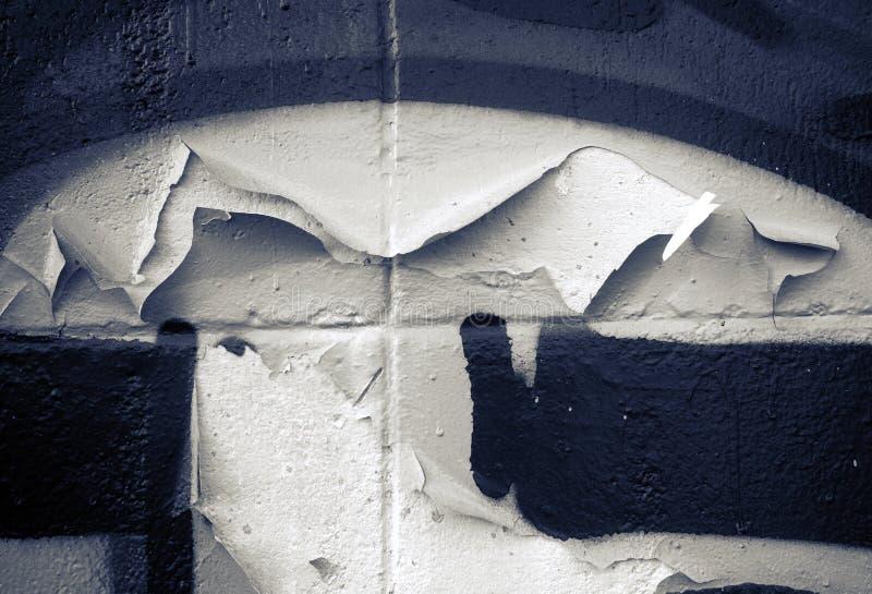Покрасьте шелушиться покрашенных blcks в monochrome стоковое изображение