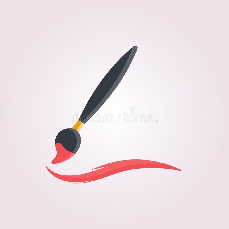 Покрасьте щетку инструмента иллюстрация вектора