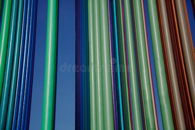 покрасьте verticle труб ландшафта multi стоковые фото
