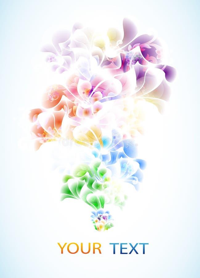 Покрашенная абстрактная swirly предпосылка бесплатная иллюстрация
