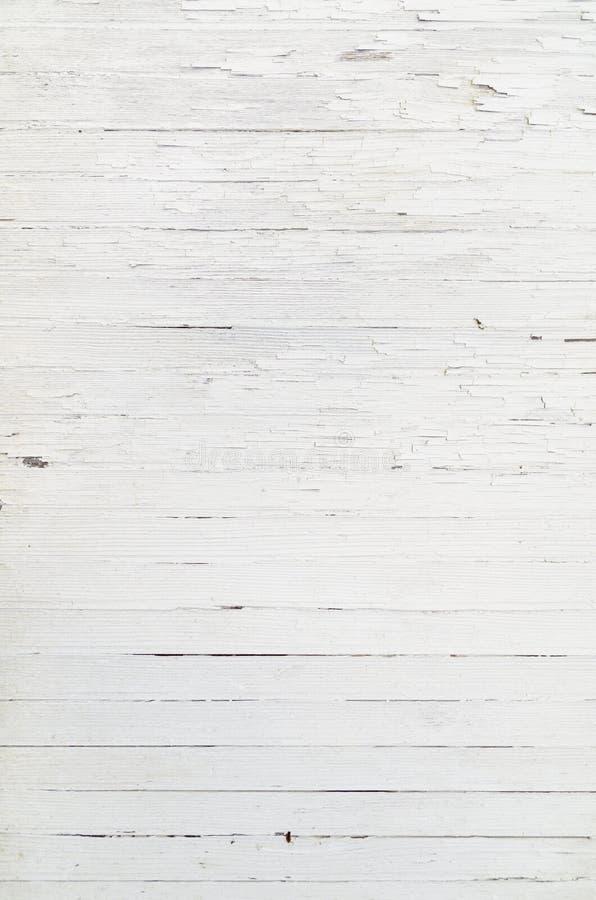 Покрашенная белая деревянная старая деревенская текстура стоковое изображение
