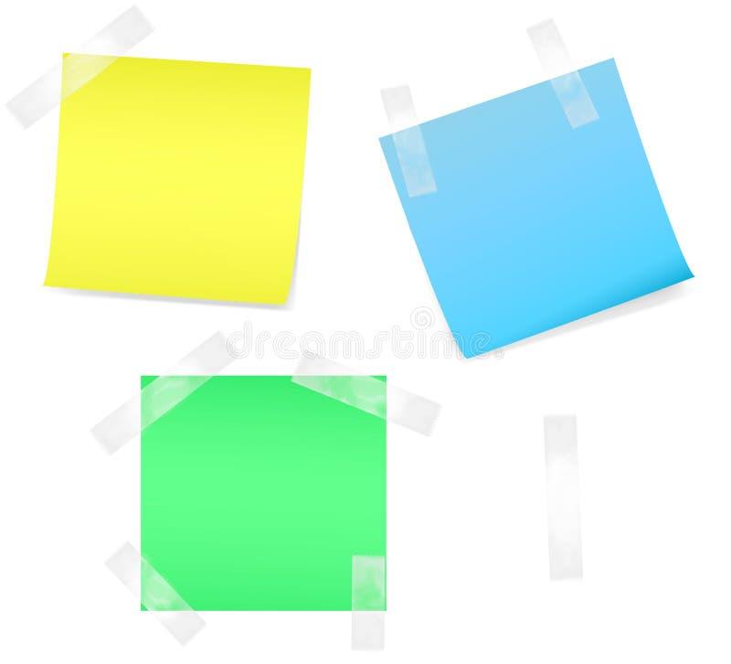 покрашенная бумага примечаний стоковое изображение rf