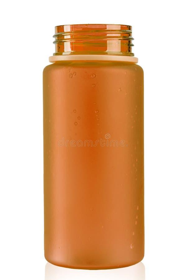 Покрашенная бутылка с водой для велосипедиста на белой предпосылке изолировано стоковые фотографии rf