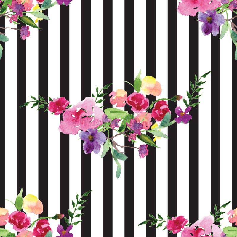 Покрашенная вручную картина акварели ветви с карточкой весны цветка магнолии цветков розовой иллюстрация вектора