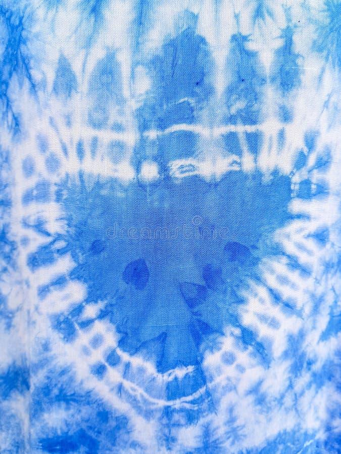 Покрашенная голубая ткань, ткани абстрактная текстура ткани конструкции конца предпосылки вверх по сети стоковое фото rf