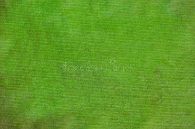 Покрашенная зеленым цветом художническая предпосылка холста стоковое фото rf