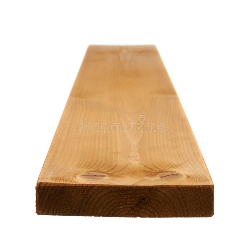 Покрашенная изолированная доска древесины сосны стоковые фотографии rf
