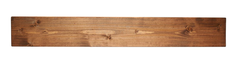 Покрашенная изолированная планка доски древесины сосны стоковая фотография rf