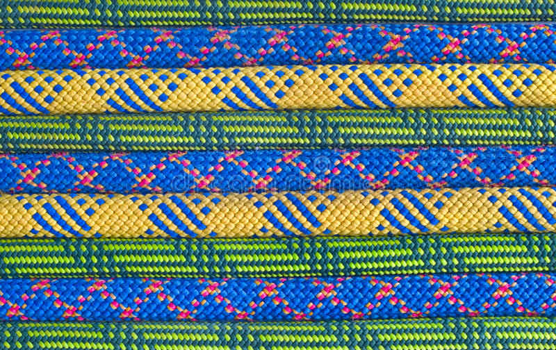 Покрашенная линия веревочки для взбираться стоковое изображение rf