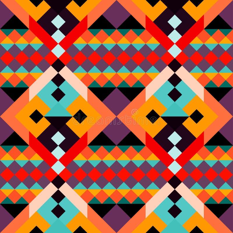 Покрашенная картина геометрических полигонов безшовная иллюстрация штока