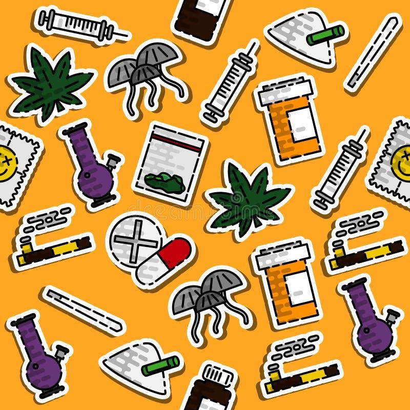 Покрашенная картина лекарств иллюстрация штока