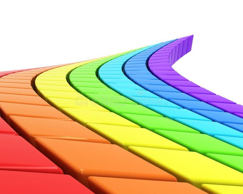 покрашенная конспектом дорога радуги иллюстрация штока