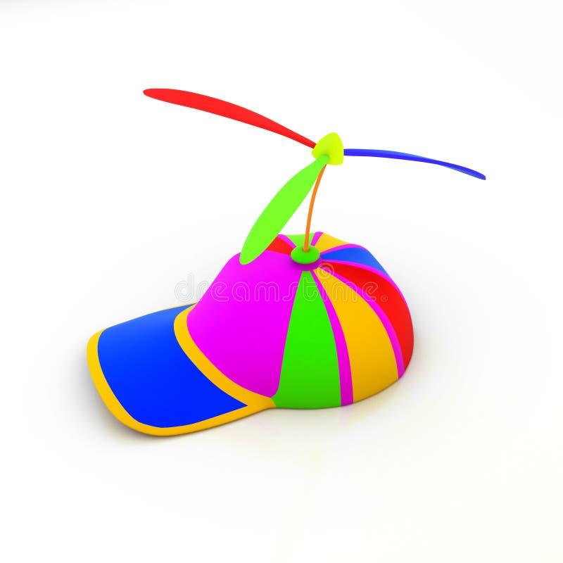 покрашенная крышкой игрушка пропеллеров иллюстрация вектора
