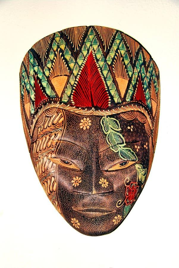 покрашенная маска деревянной стоковое изображение rf