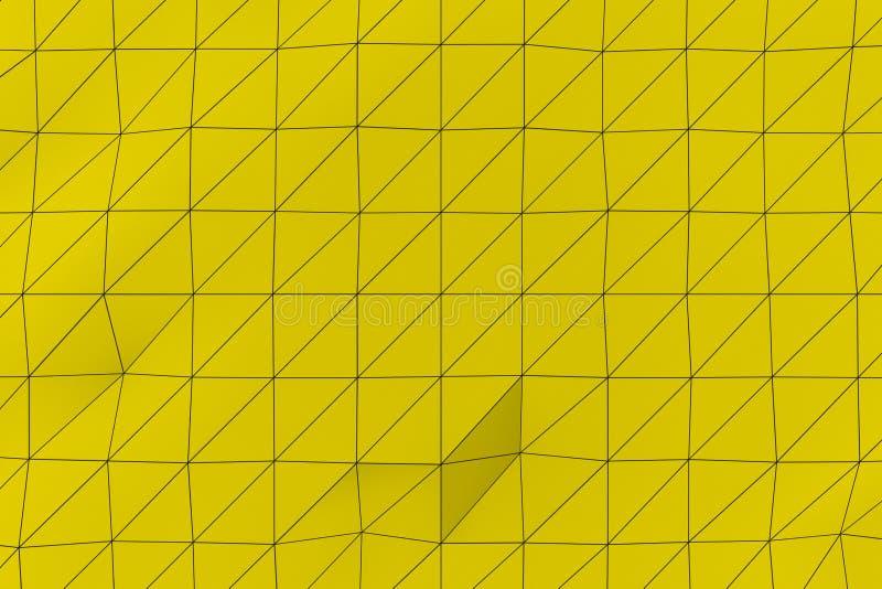 Покрашенная низкая поли смещенная поверхность с темными соединяясь линиями бесплатная иллюстрация