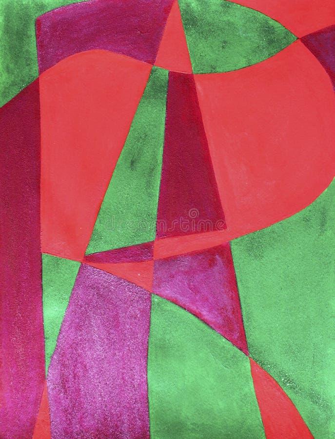 покрашенная предпосылка абстрактного искусства иллюстрация штока