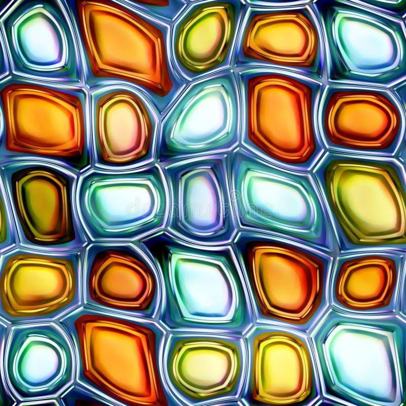 Покрашенная предпосылки рождества диамантов иллюстрация конспекта 3D безшовной яркая сияющая иллюстрация вектора