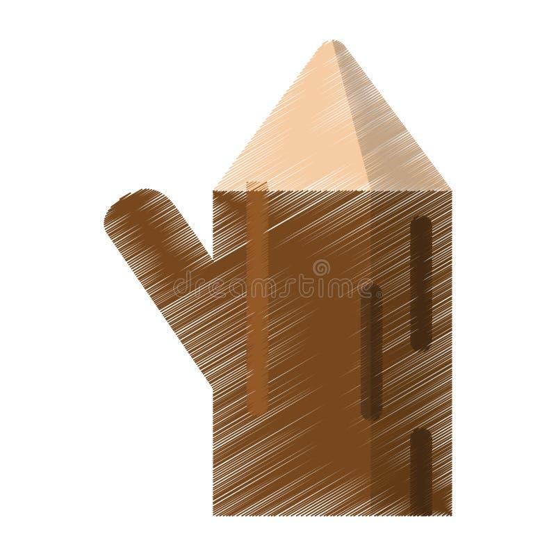 Покрашенная природа ствола дерева деревянная иллюстрация штока