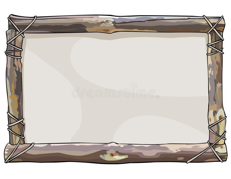 Покрашенная рамка деревянных ручек прыгает с веревочкой иллюстрация вектора