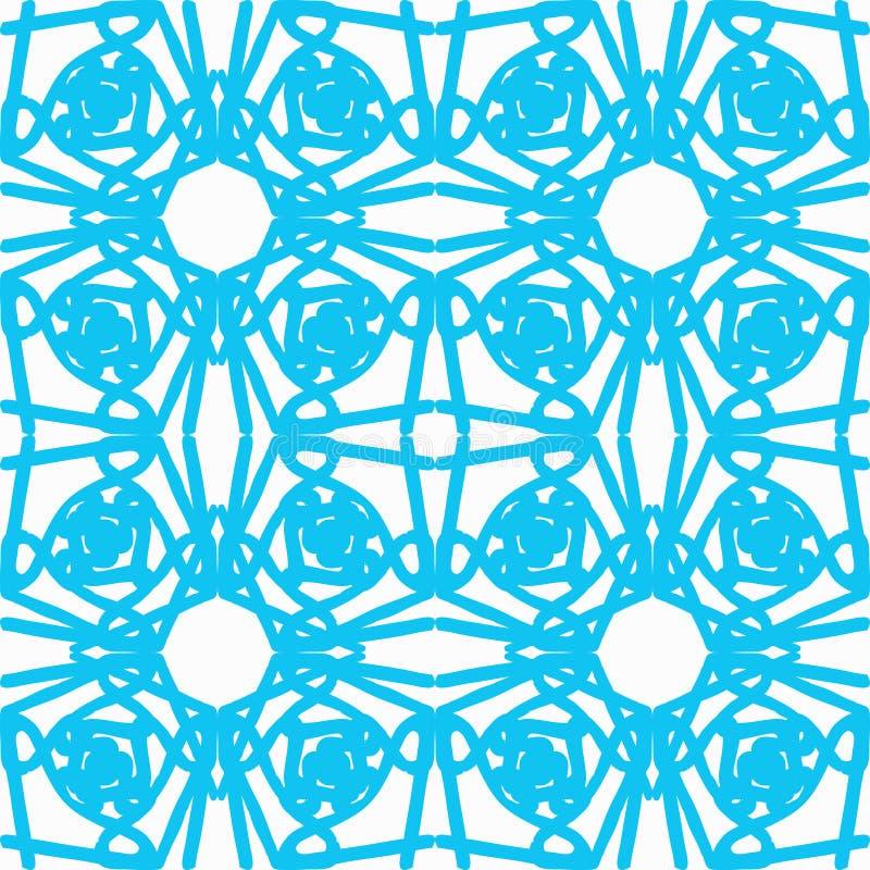 Покрашенная ретро абстрактная безшовная картина в цвете геометрического стиля классическом с геометрическими формами vector иллюс иллюстрация штока