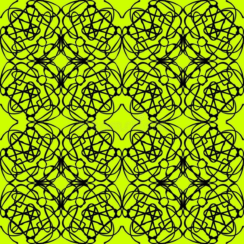 Покрашенная ретро абстрактная безшовная картина в цвете геометрического стиля классическом с геометрической иллюстрацией форм для иллюстрация вектора