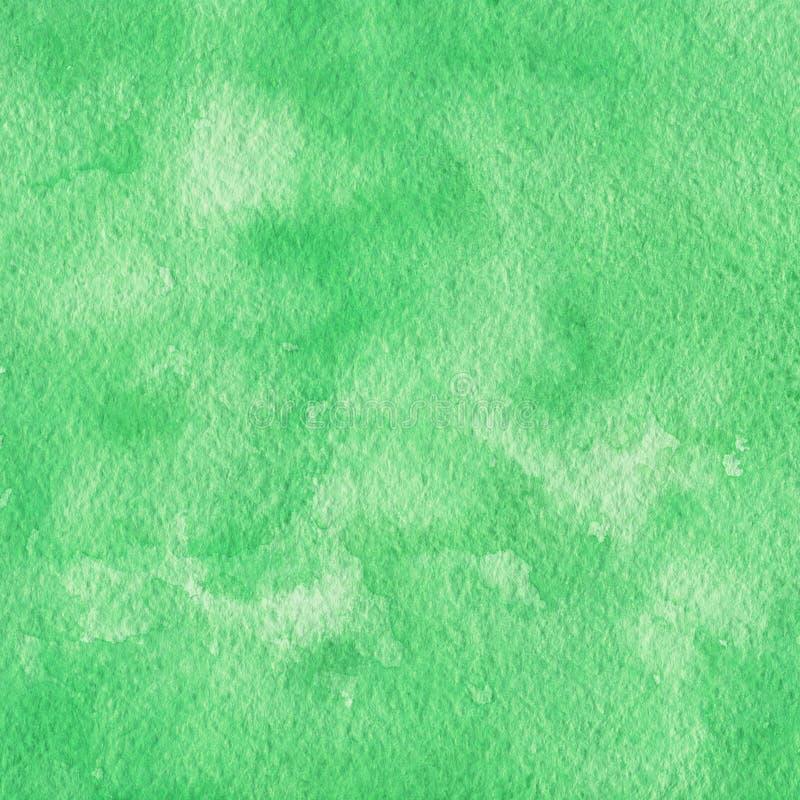 Покрашенная рукой зеленая предпосылка акварели Текстура для вашего desig иллюстрация штока