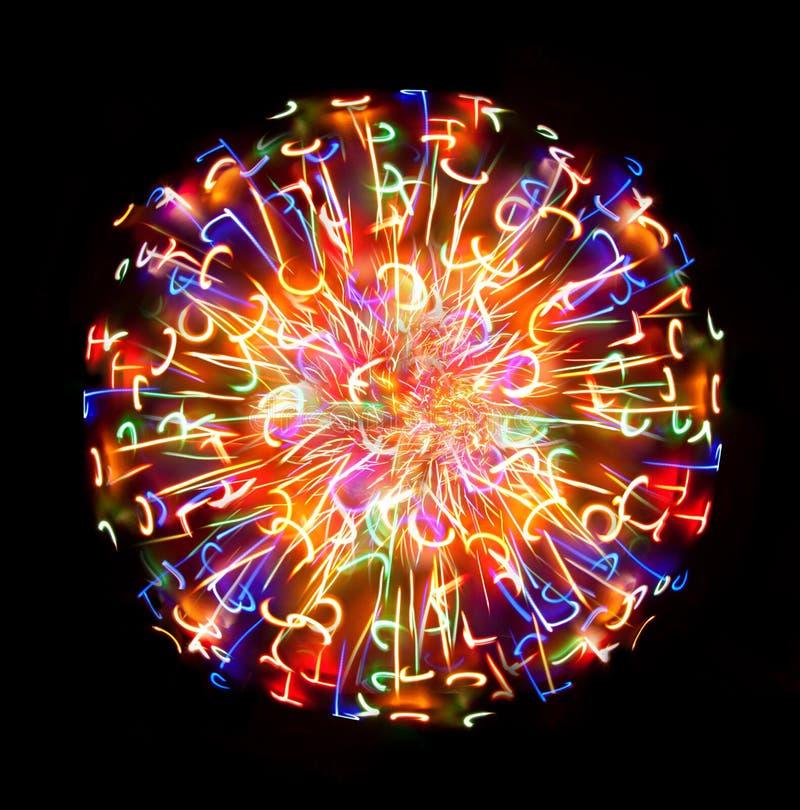 покрашенная светлая multi сфера стоковое изображение rf