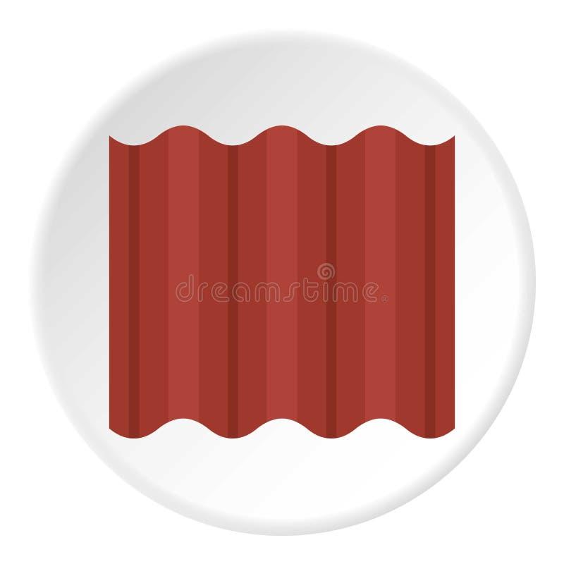 Покрашенная сталь goffered плита для круга значка крыши иллюстрация штока