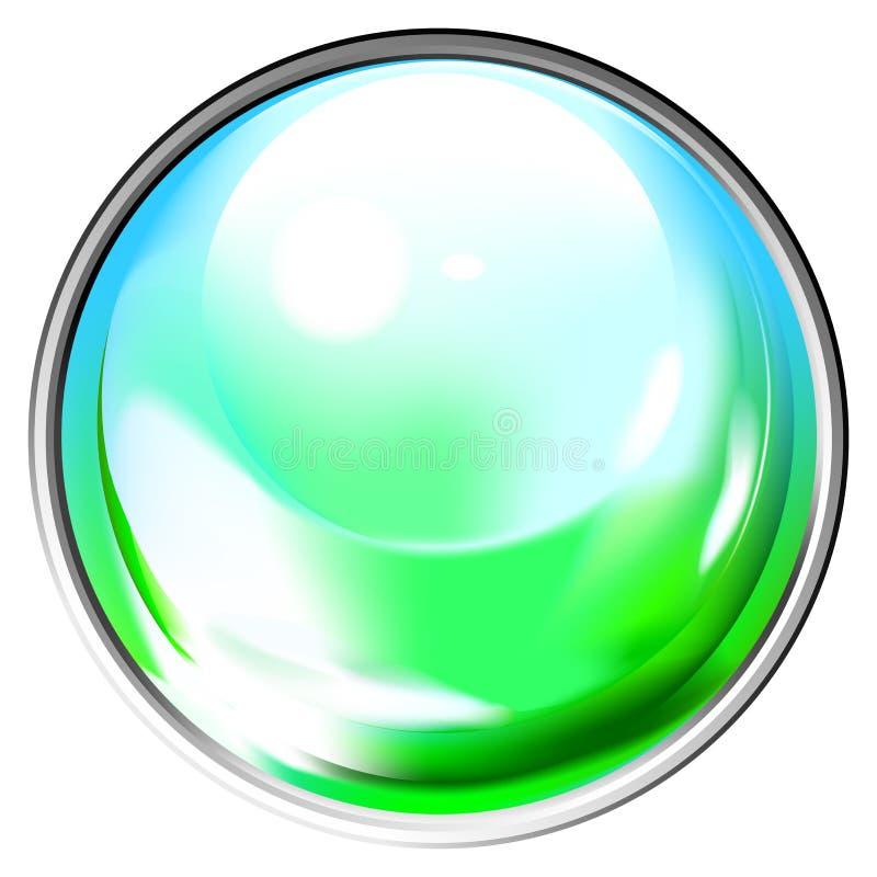 покрашенная сфера прозрачная иллюстрация вектора