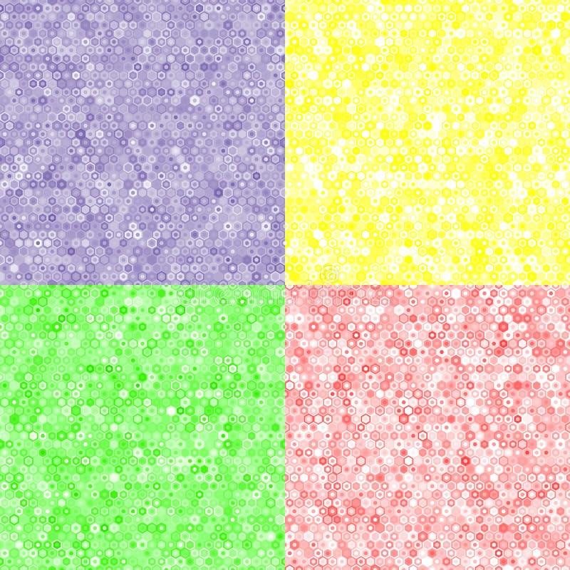 Покрашенная текстура шестиугольников иллюстрация вектора