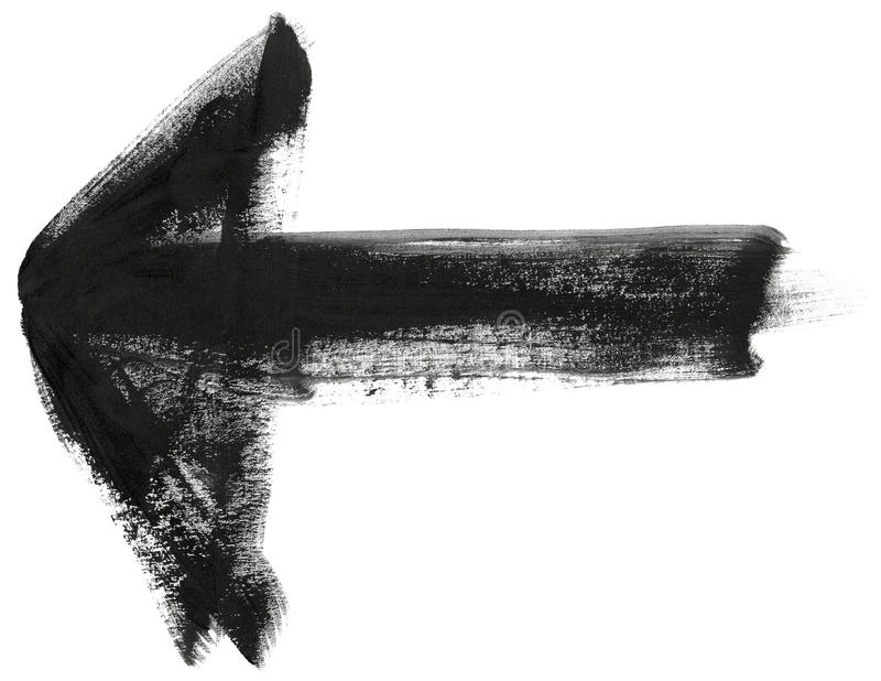 Покрашенная шайкой бандитов стрелка хода щетки иллюстрация вектора