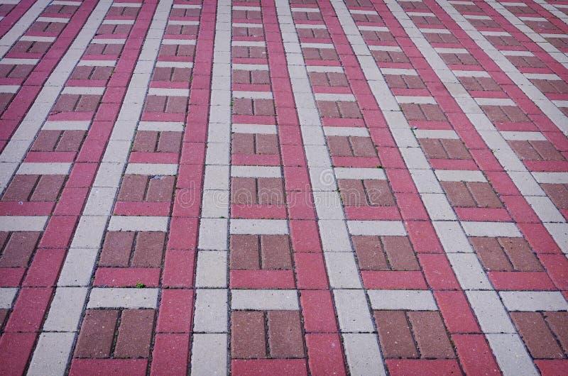Покрашенная checkered плитка на улице стоковое изображение