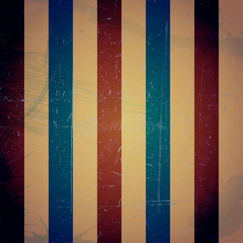 Покрашенная striped винтажная текстура Предпосылка Grunge иллюстрация вектора