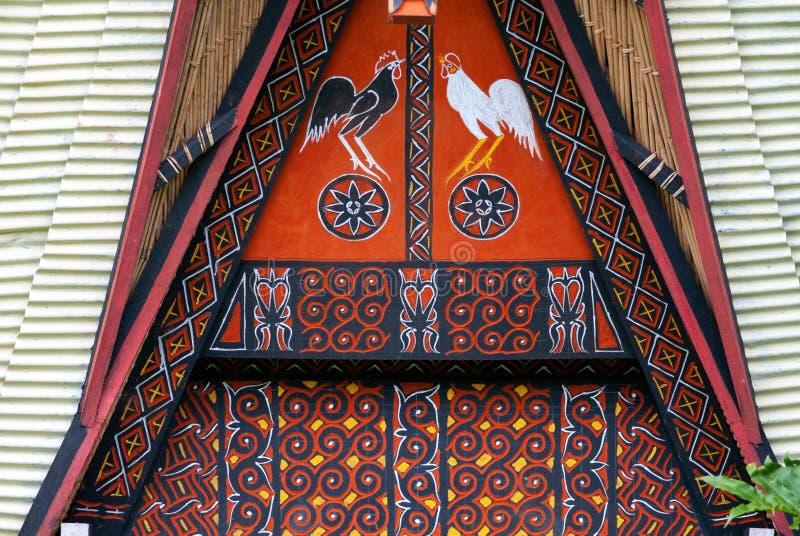 покрашенное домом toraja tana стоковые изображения rf