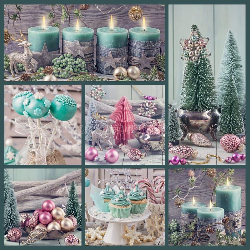 Покрашенное пастелью украшение рождества стоковые фотографии rf